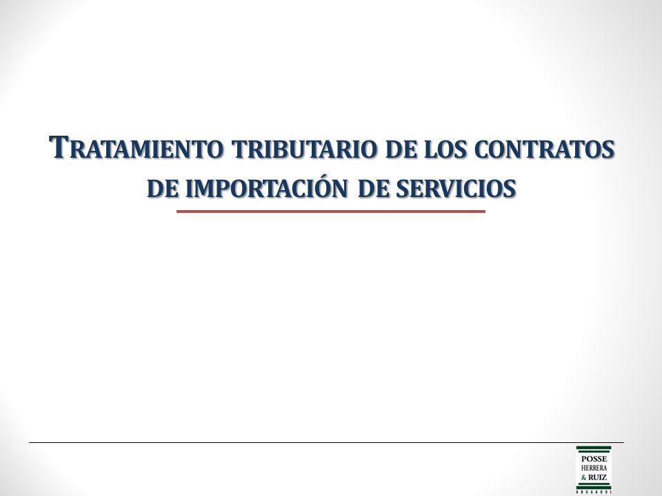 Tratamiento tributario de los contratos de importación de servicios