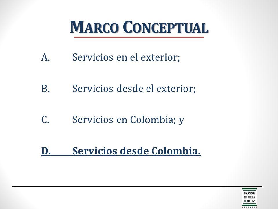Marco Conceptual A. Servicios en el exterior;