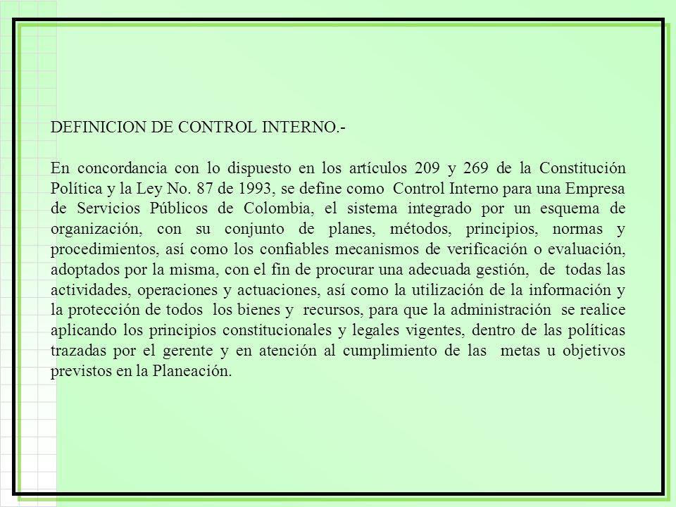 DEFINICION DE CONTROL INTERNO.-
