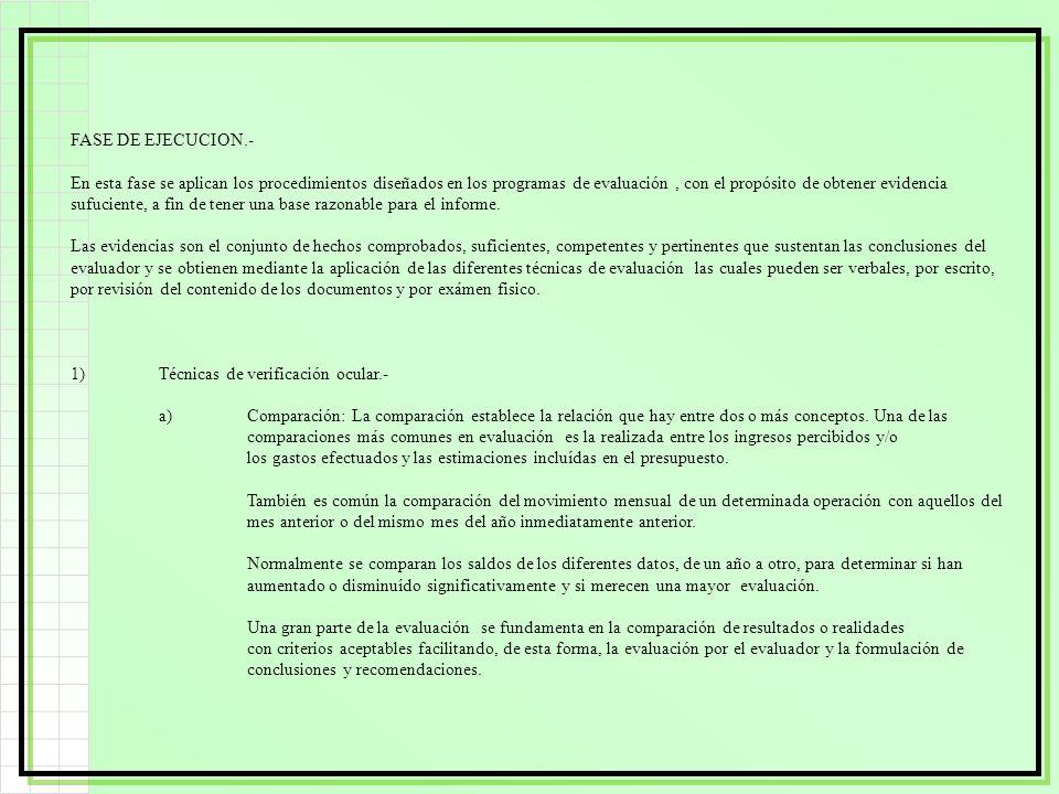 FASE DE EJECUCION.-