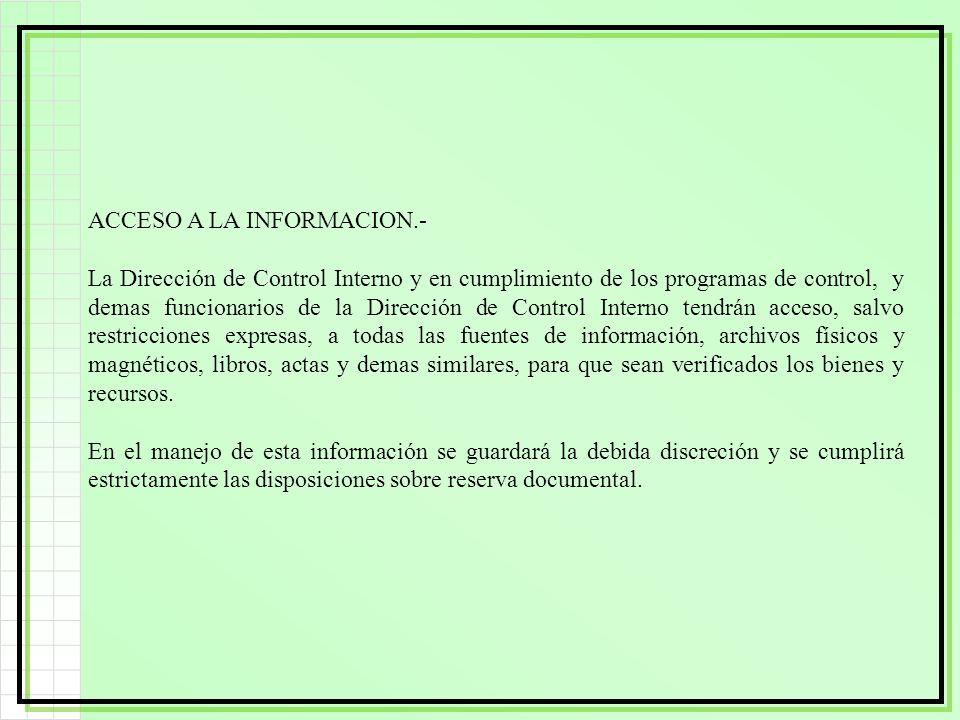 ACCESO A LA INFORMACION.-