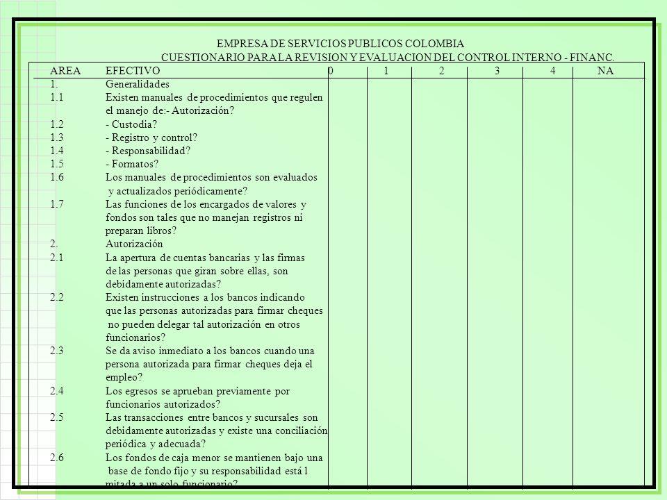 EMPRESA DE SERVICIOS PUBLICOS COLOMBIA