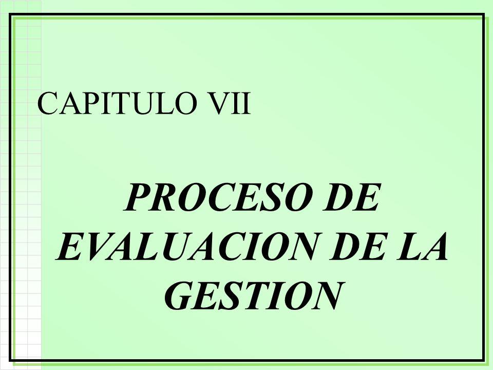 PROCESO DE EVALUACION DE LA GESTION