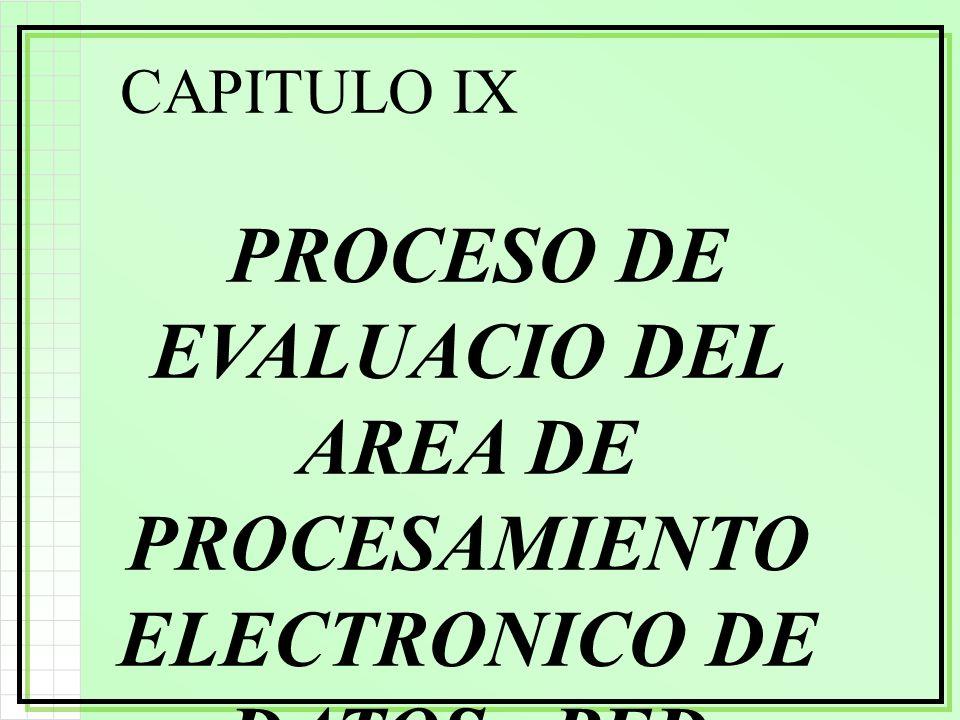 CAPITULO IX PROCESO DE EVALUACIO DEL AREA DE PROCESAMIENTO ELECTRONICO DE DATOS - PED SISTEMAS