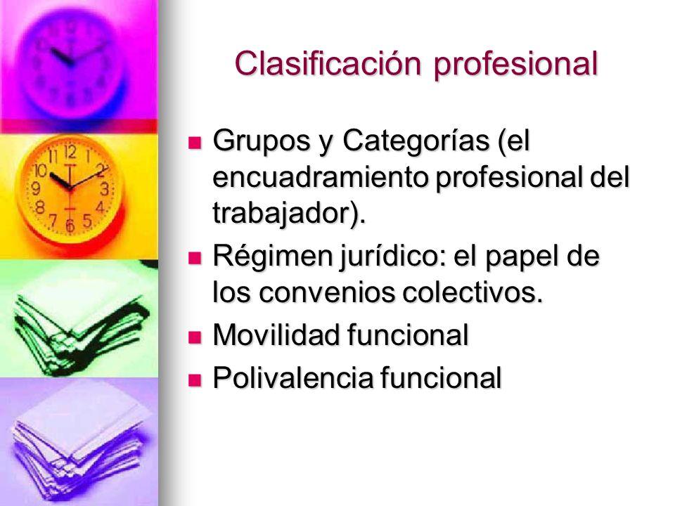 Clasificación profesional