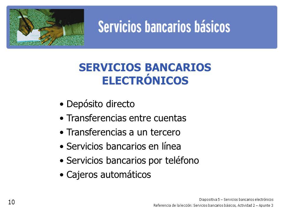 SERVICIOS BANCARIOS ELECTRÓNICOS
