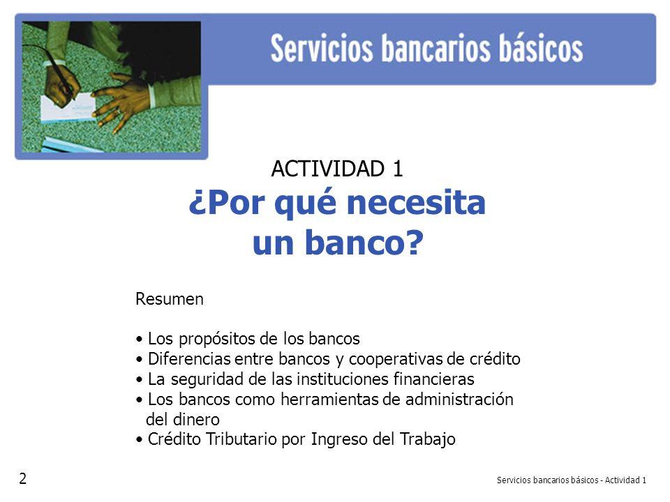 Servicios bancarios básicos - Actividad 1