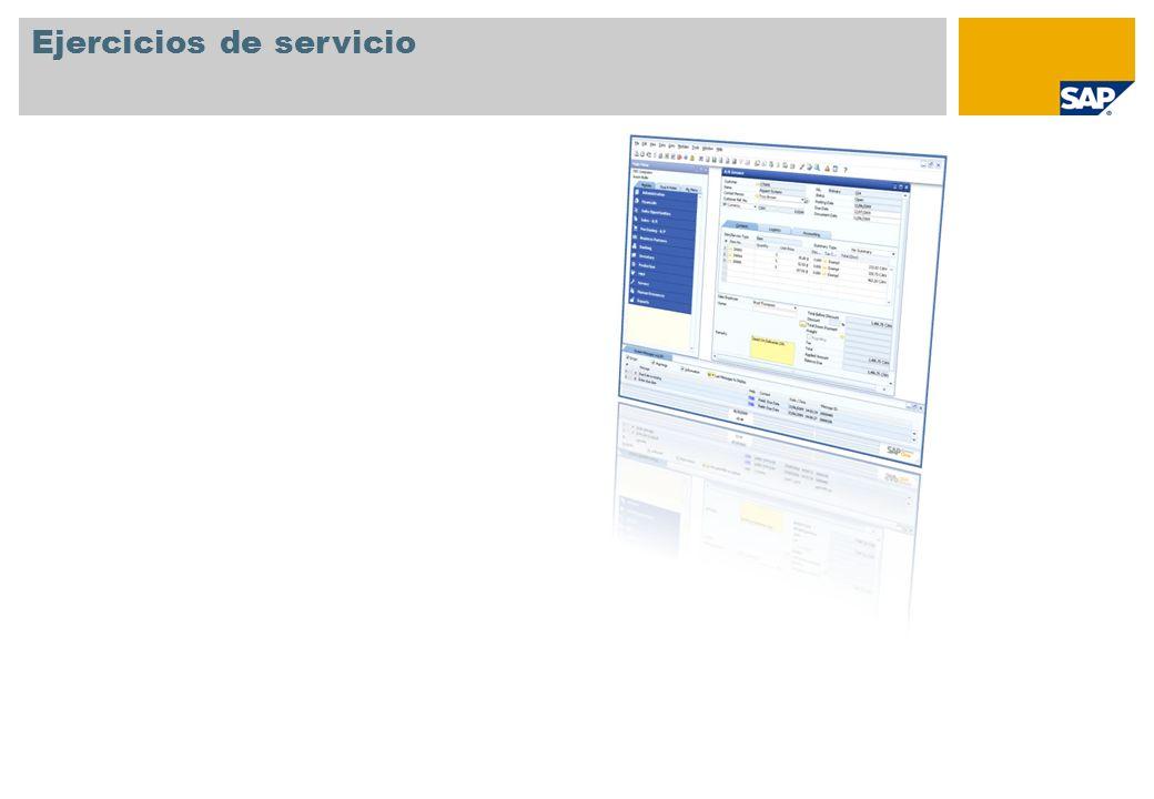 Ejercicios de servicio