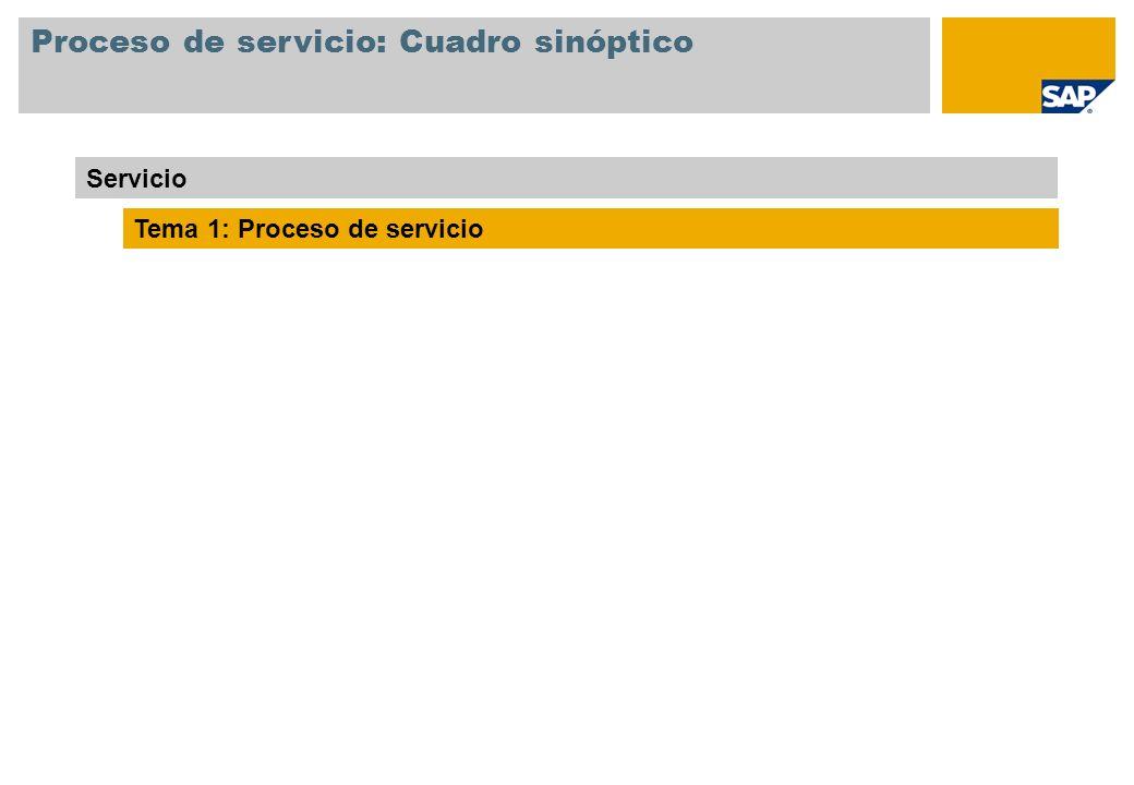 Proceso de servicio: Cuadro sinóptico