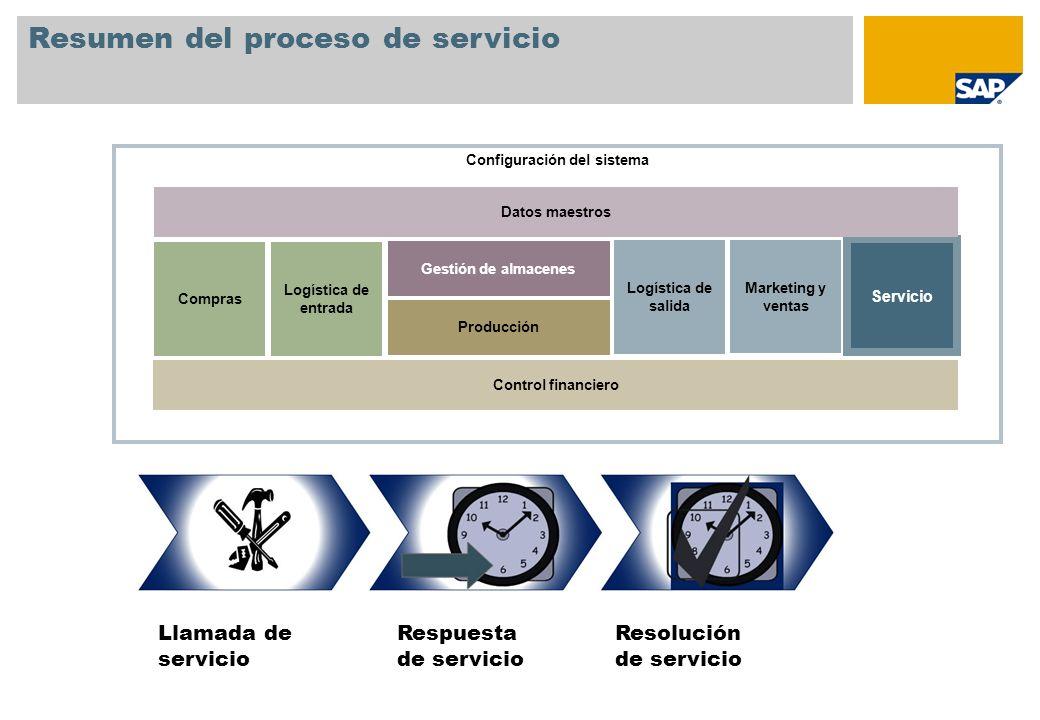 Resumen del proceso de servicio