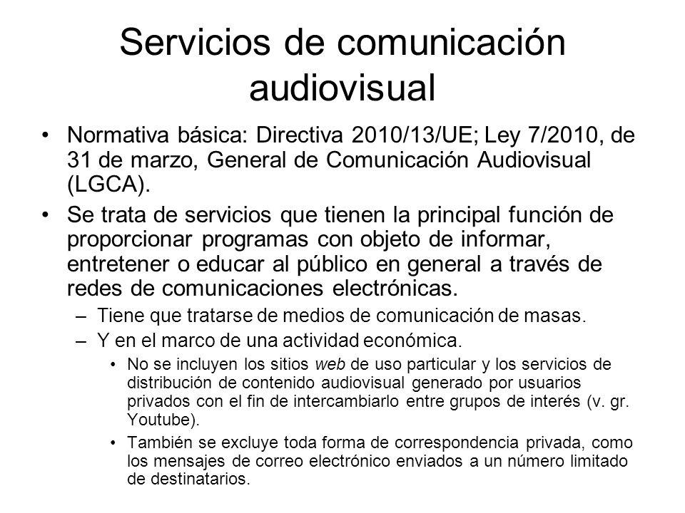 Servicios de comunicación audiovisual