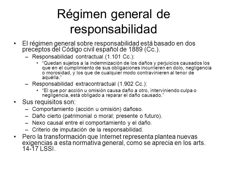 Régimen general de responsabilidad