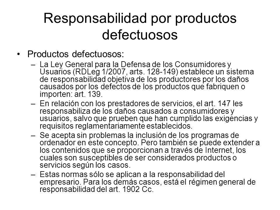 Responsabilidad por productos defectuosos