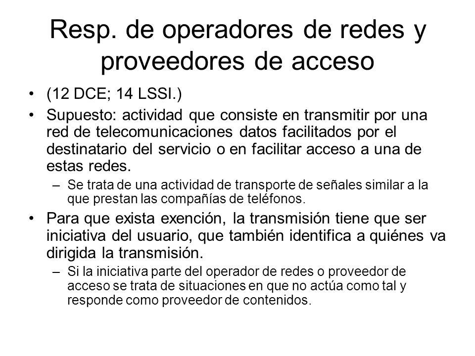 Resp. de operadores de redes y proveedores de acceso