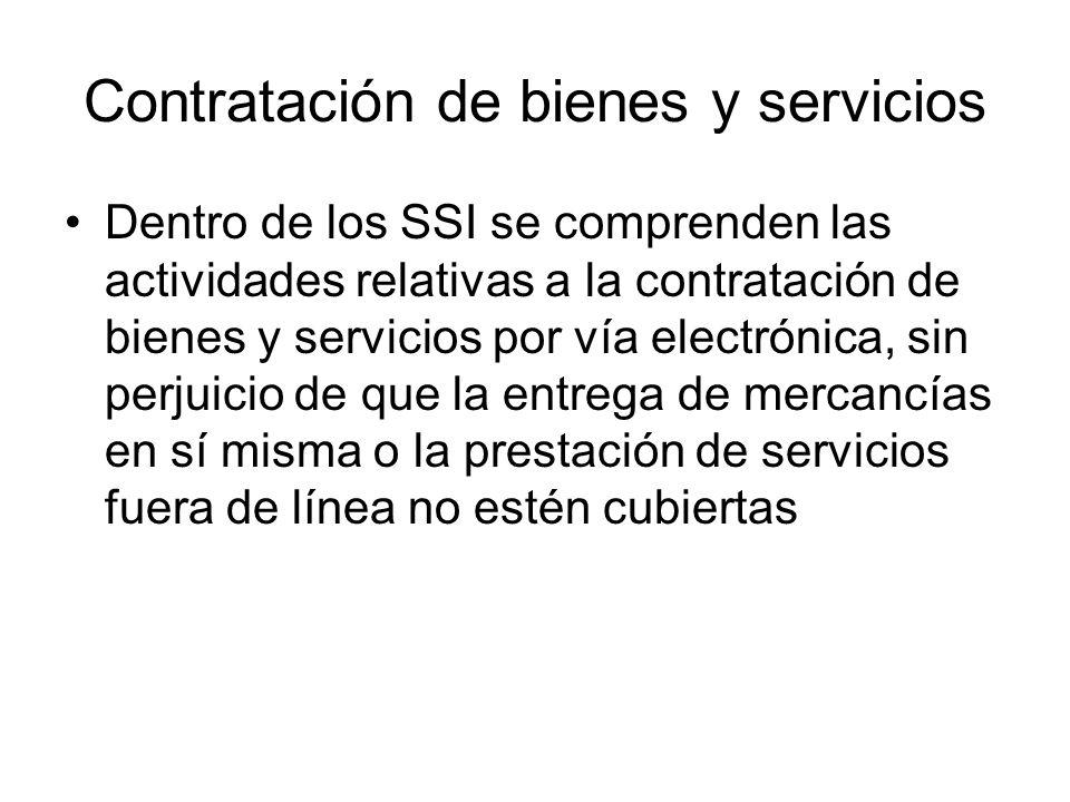 Contratación de bienes y servicios