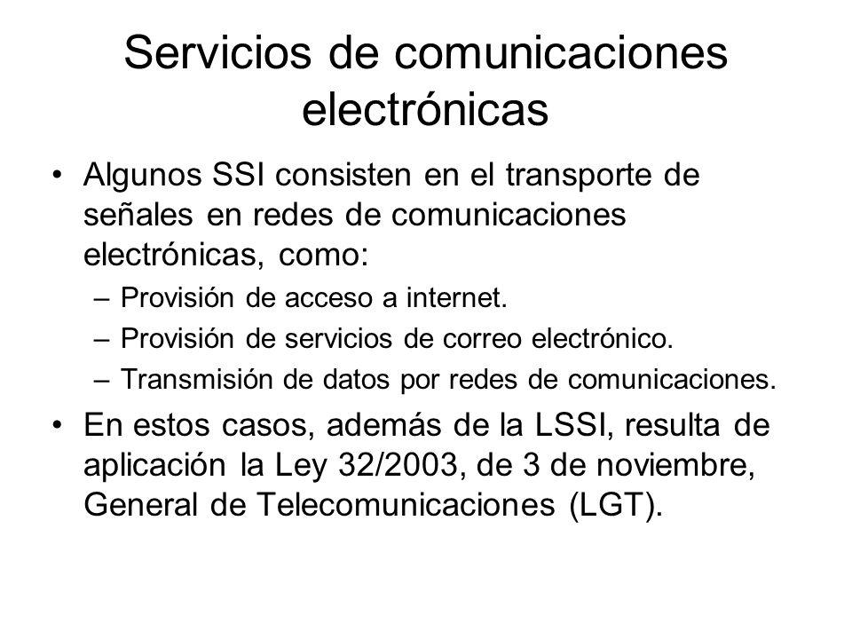 Servicios de comunicaciones electrónicas