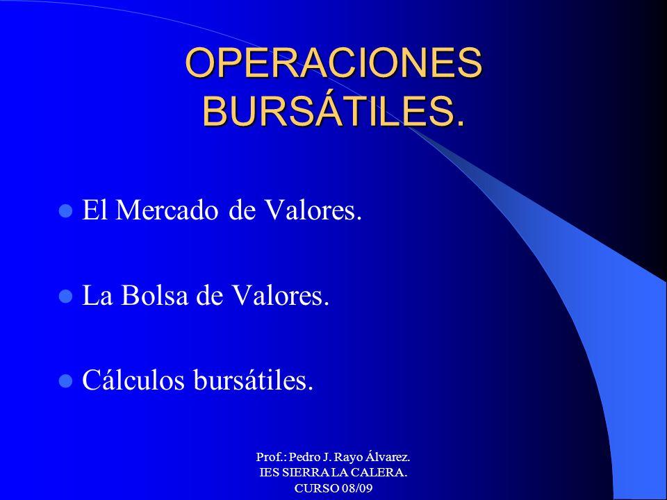 OPERACIONES BURSÁTILES.