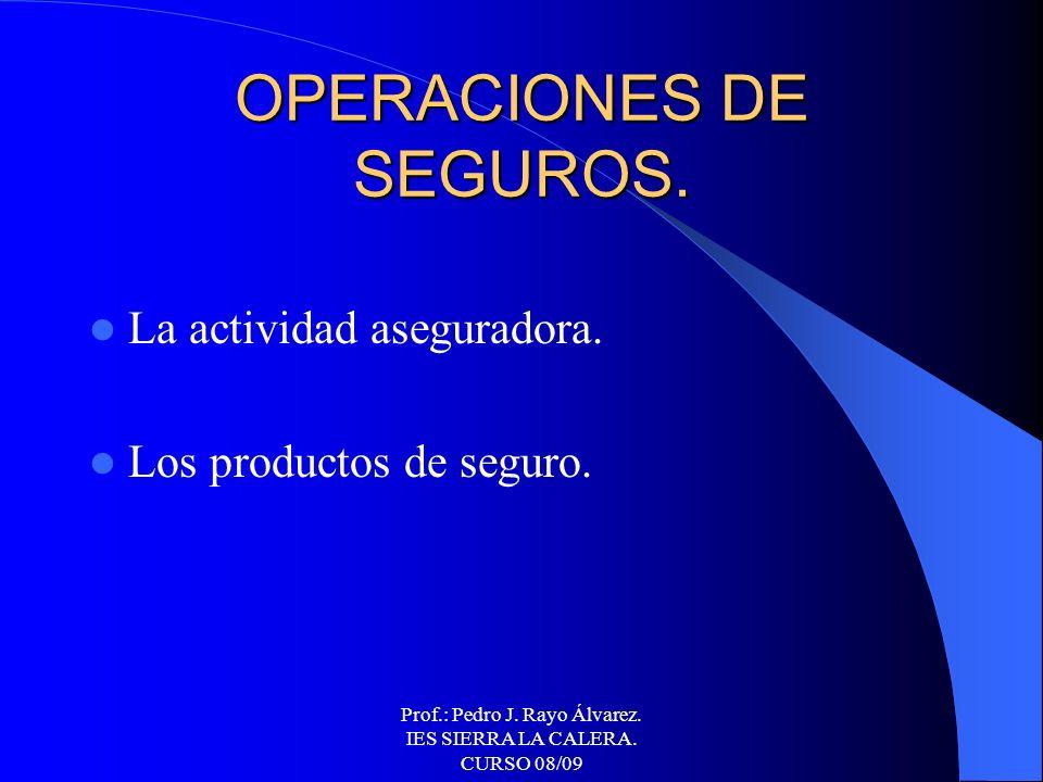 OPERACIONES DE SEGUROS.