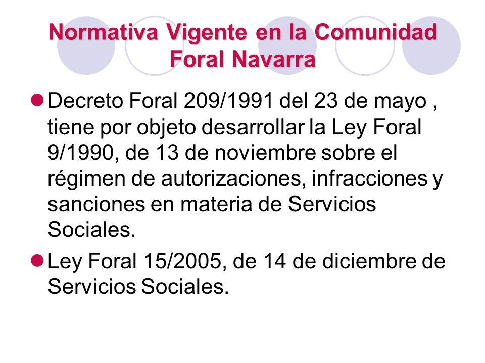 Normativa Vigente en la Comunidad Foral Navarra