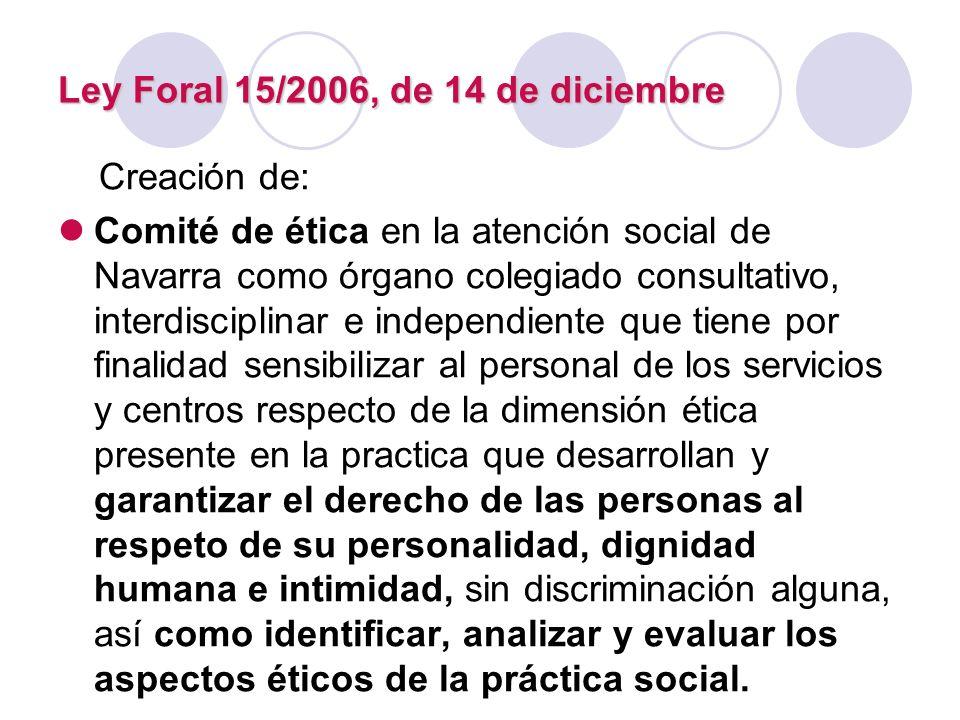 Ley Foral 15/2006, de 14 de diciembre