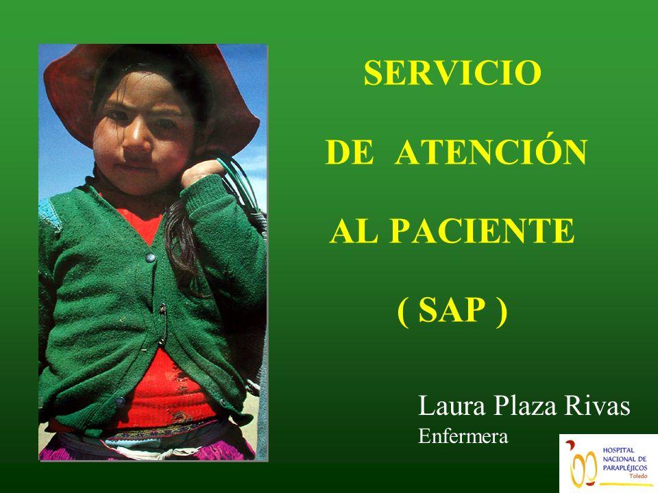 SERVICIO DE ATENCIÓN AL PACIENTE ( SAP )
