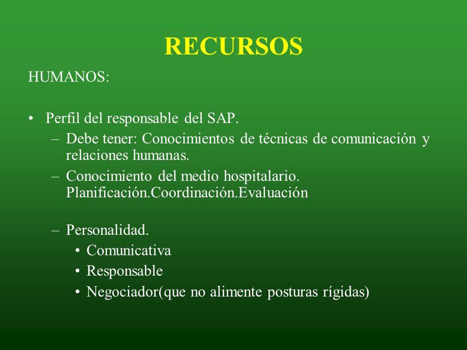 RECURSOS HUMANOS: Perfil del responsable del SAP.
