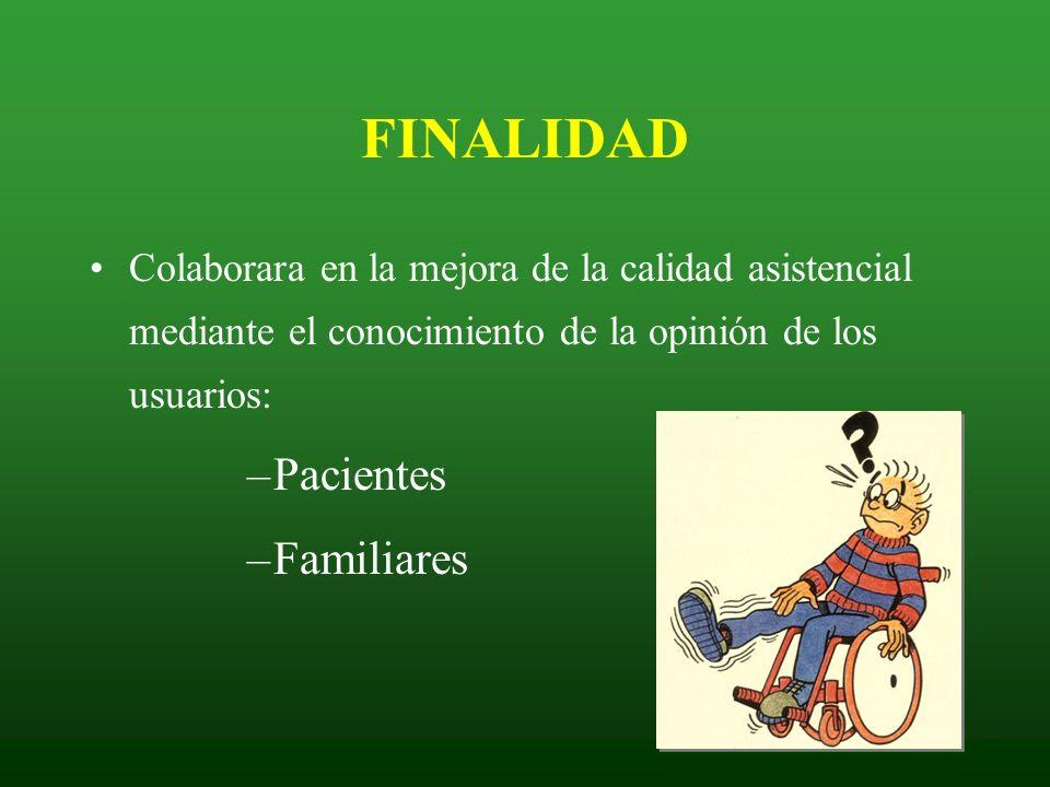 FINALIDAD Pacientes Familiares