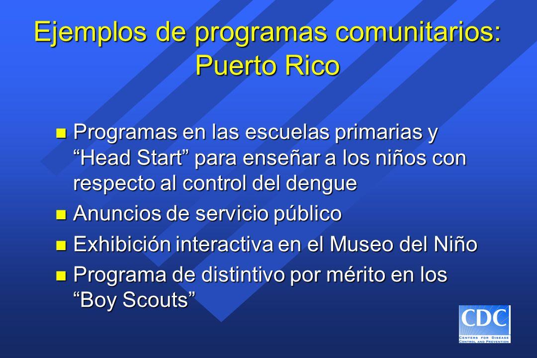 Ejemplos de programas comunitarios: Puerto Rico