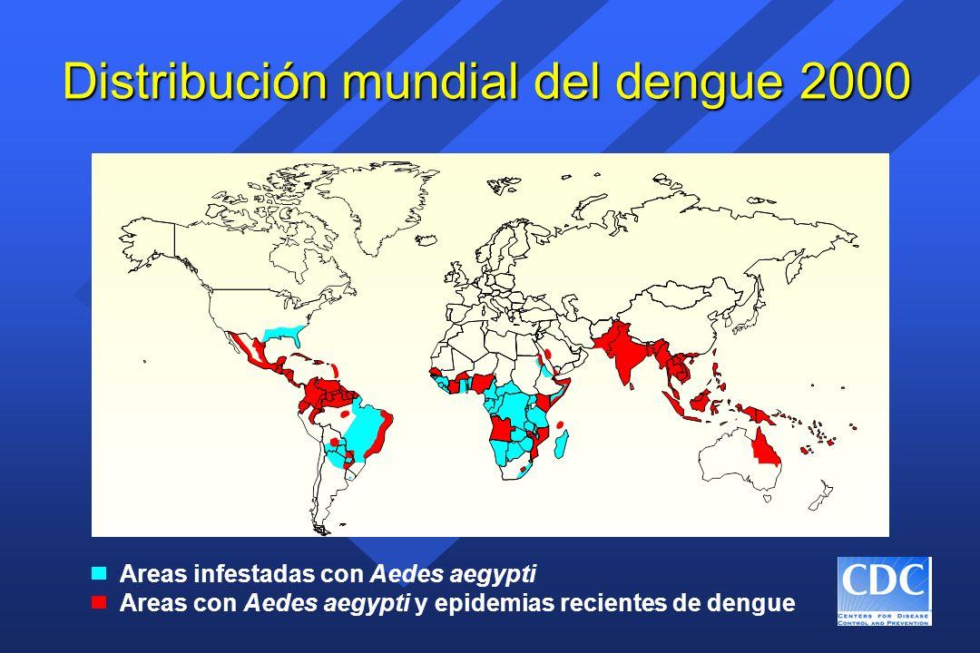 Distribución mundial del dengue 2000