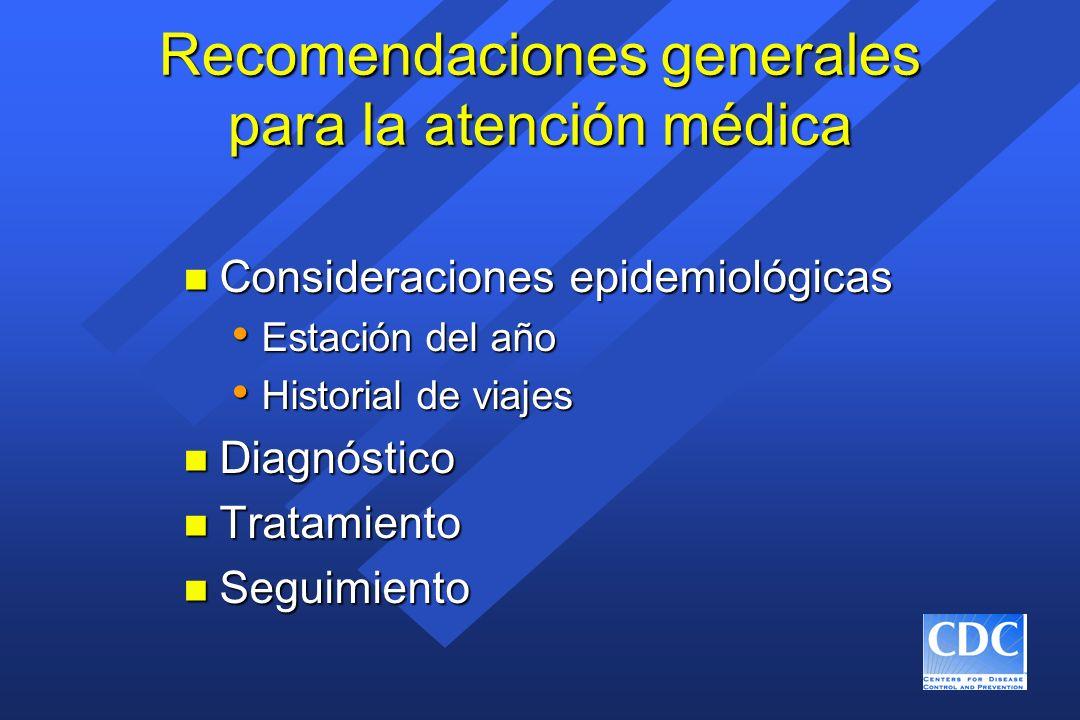 Recomendaciones generales para la atención médica