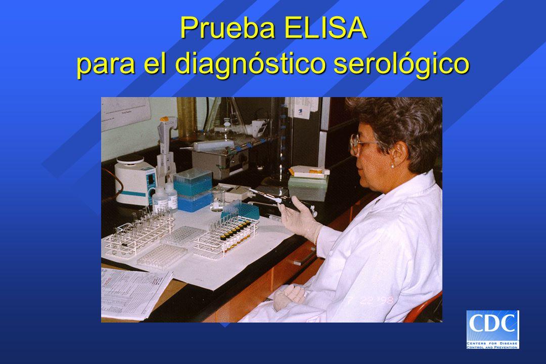 Prueba ELISA para el diagnóstico serológico