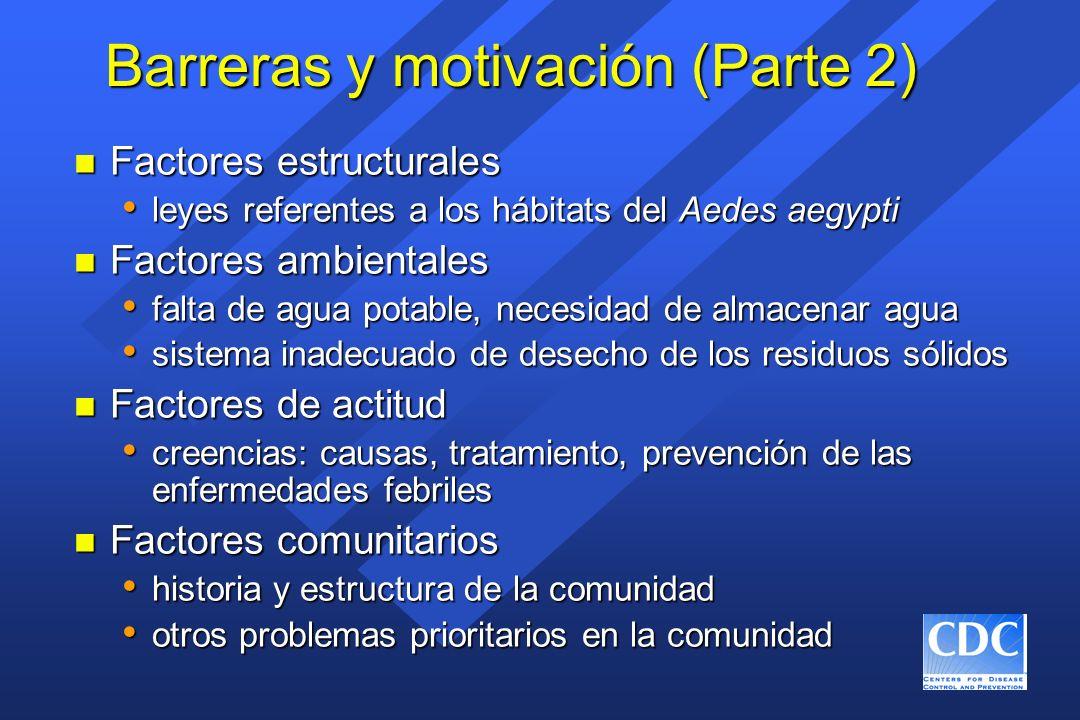 Barreras y motivación (Parte 2)