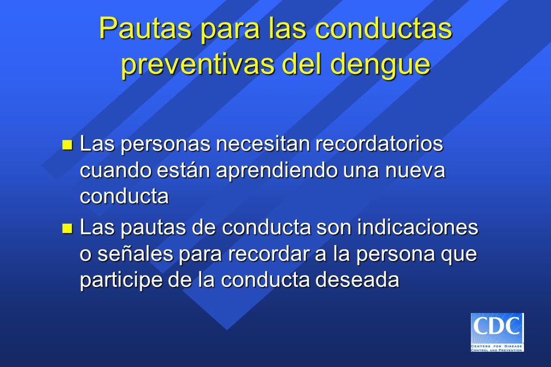 Pautas para las conductas preventivas del dengue