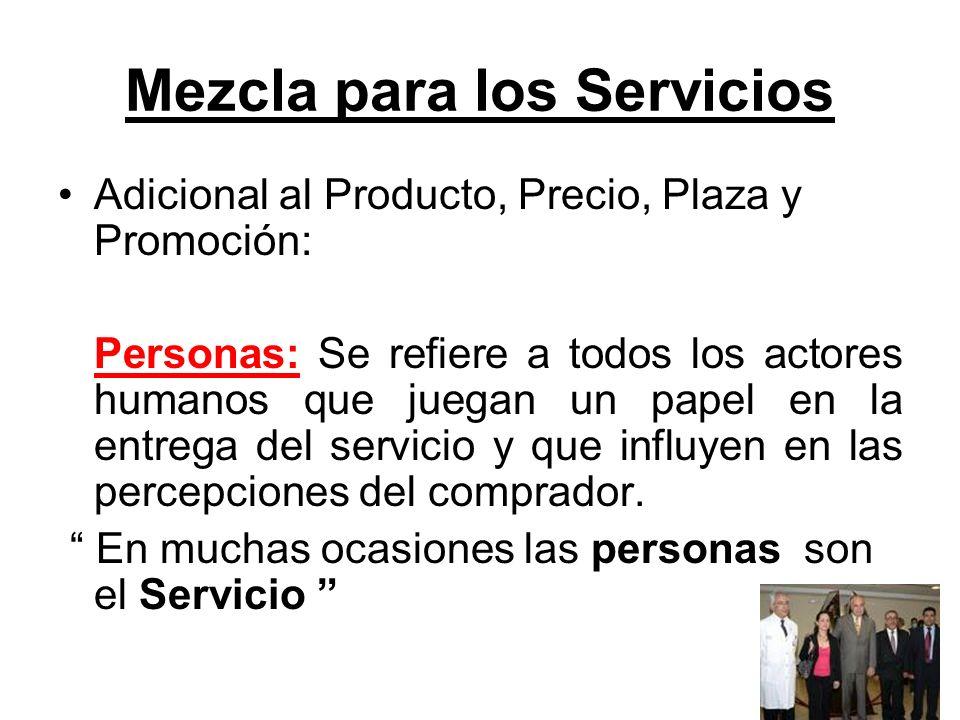Mezcla para los Servicios