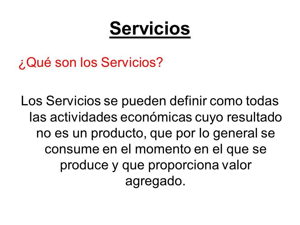 Servicios ¿Qué son los Servicios