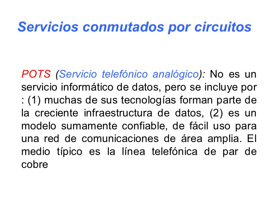 Servicios conmutados por circuitos