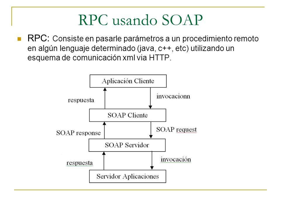 RPC usando SOAP