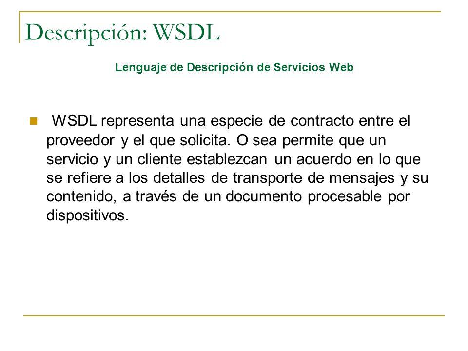 Lenguaje de Descripción de Servicios Web