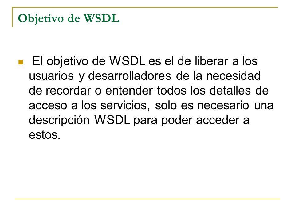 Objetivo de WSDL