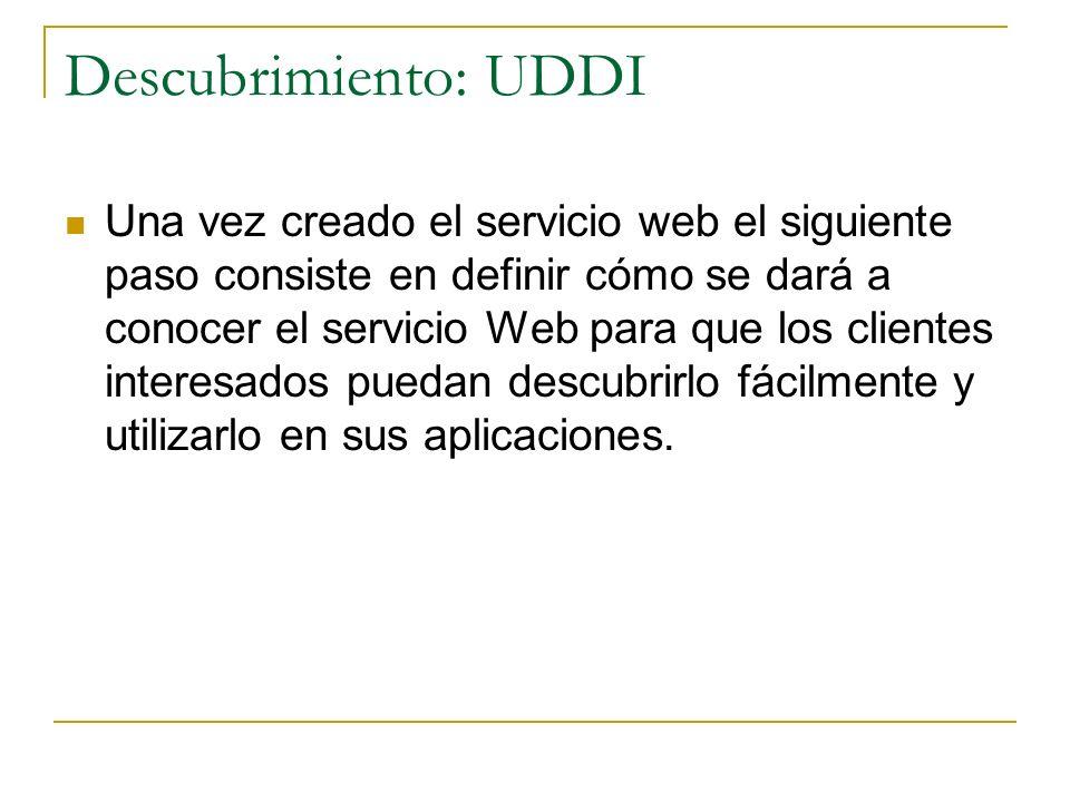 Descubrimiento: UDDI