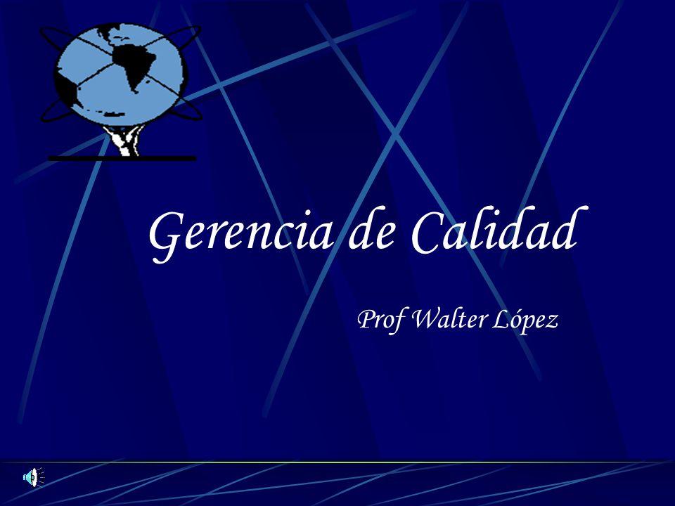 Gerencia de Calidad Prof Walter López