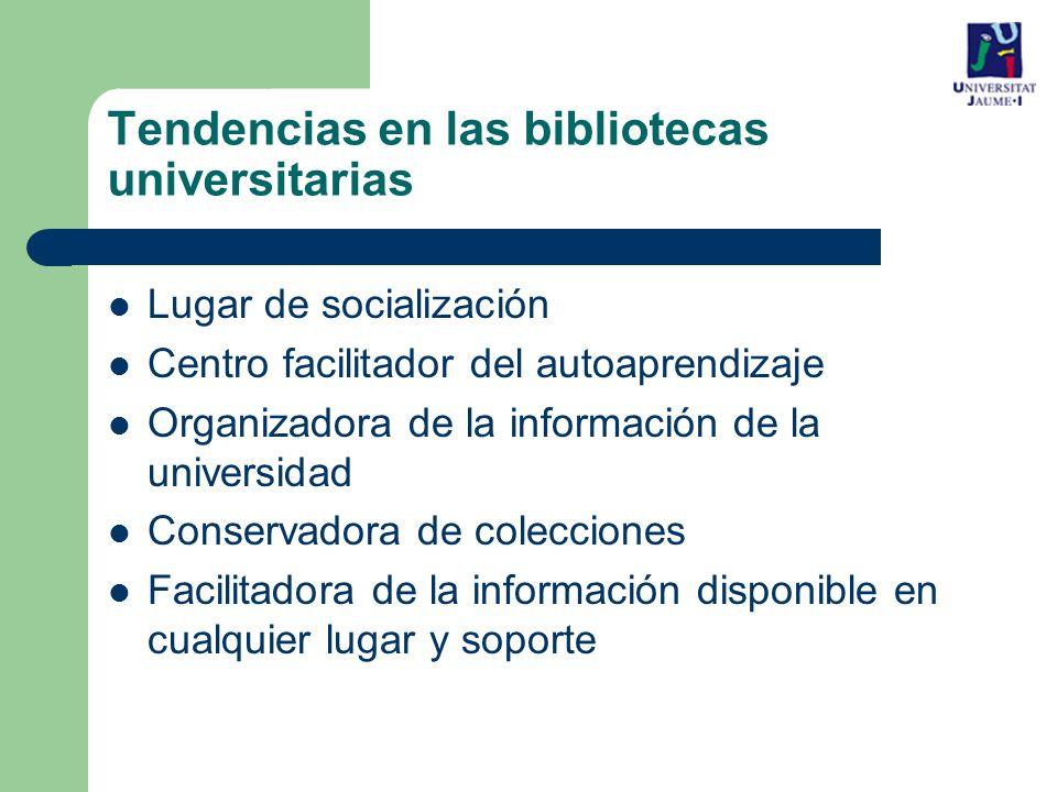 Tendencias en las bibliotecas universitarias
