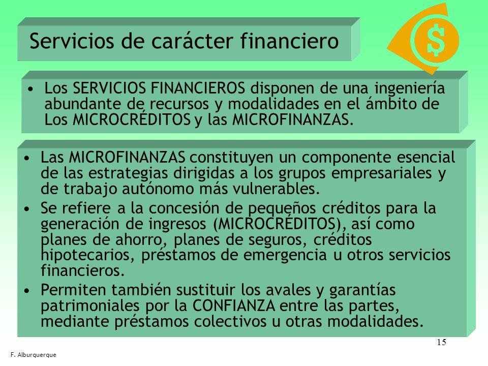 Servicios de carácter financiero