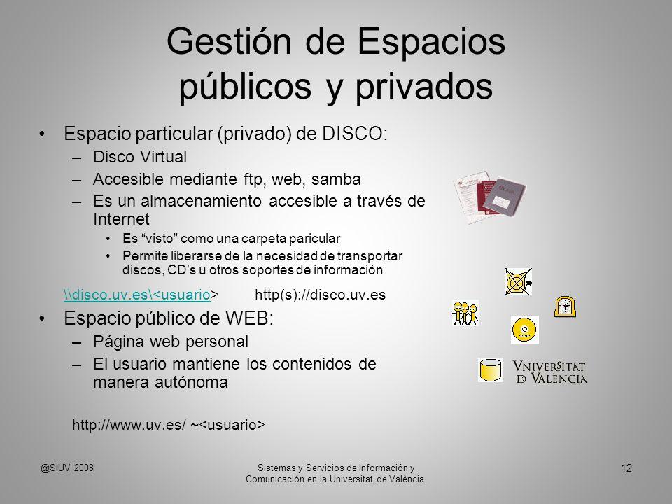 Gestión de Espacios públicos y privados
