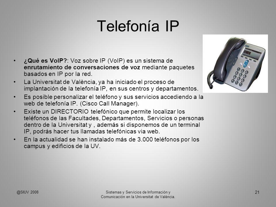 Telefonía IP ¿Qué es VoIP : Voz sobre IP (VoIP) es un sistema de enrutamiento de conversaciones de voz mediante paquetes basados en IP por la red.