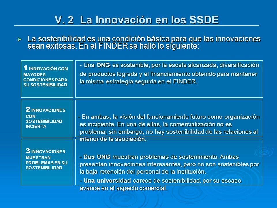 V. 2 La Innovación en los SSDE