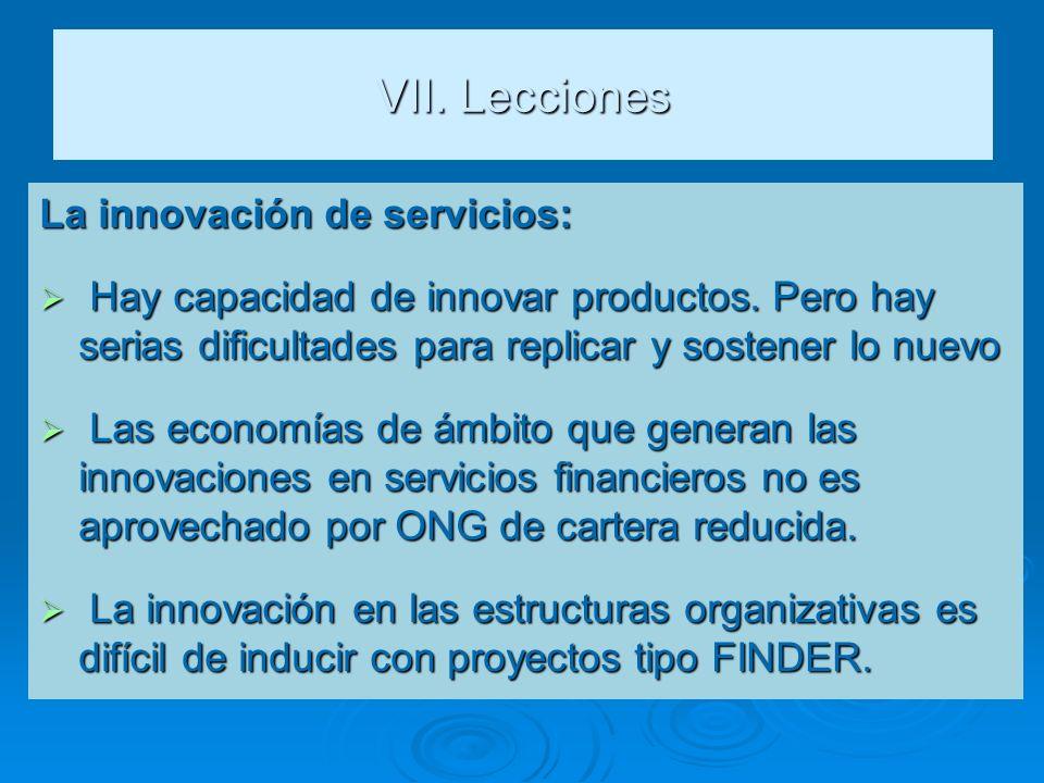 VII. Lecciones La innovación de servicios: