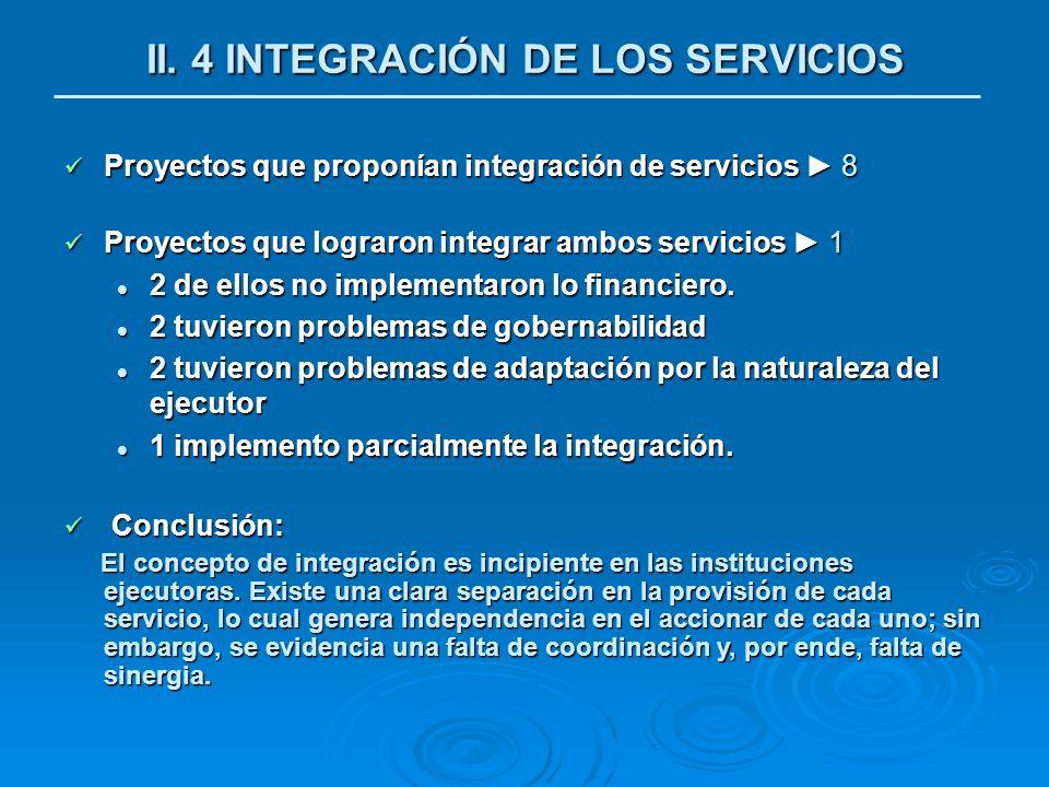 II. 4 INTEGRACIÓN DE LOS SERVICIOS