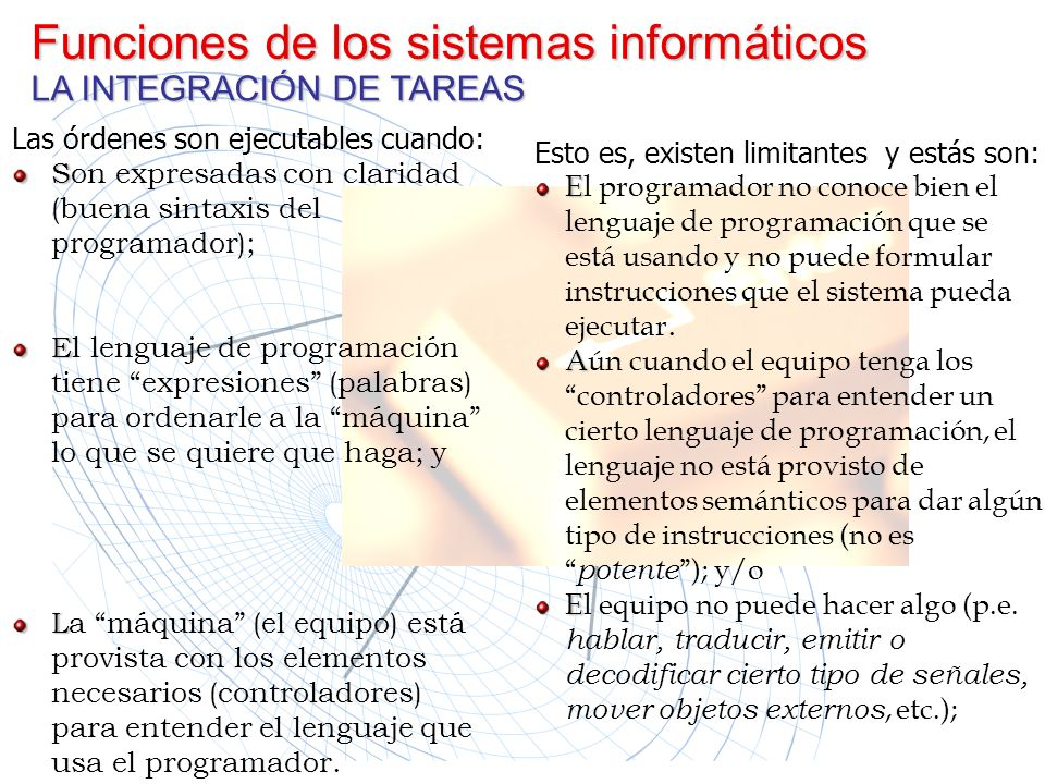 Funciones de los sistemas informáticos