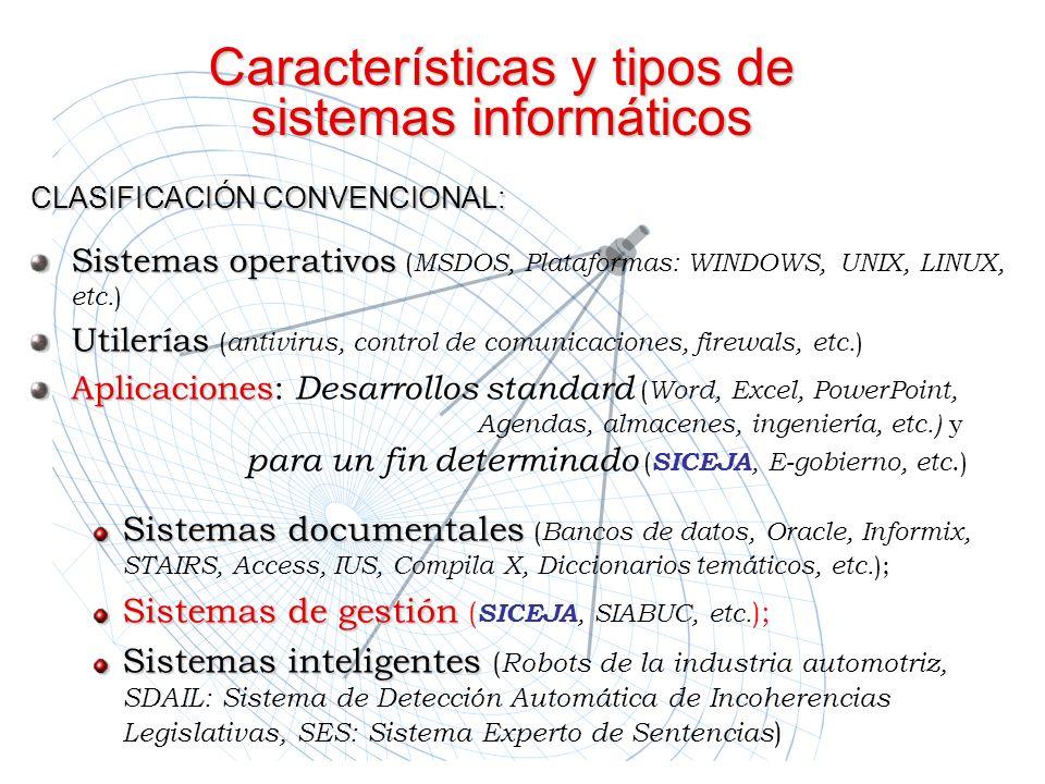 Características y tipos de sistemas informáticos